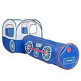 HQQ Kinder Spielen Zelt blau Lokomotive Tunnel Ball Pool Ball Zweiteilige Spielhaus abnehmbare...