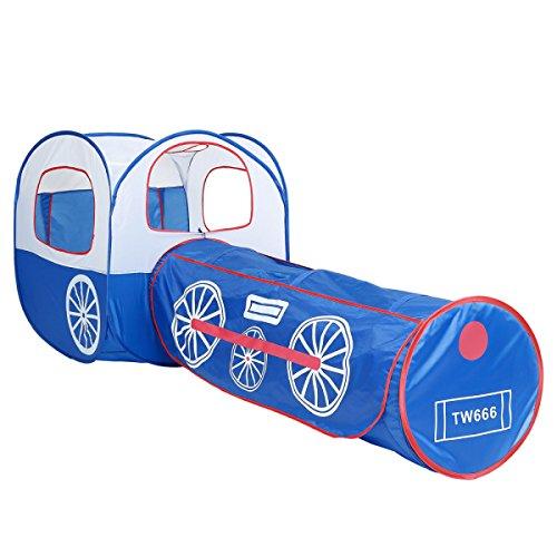 XinQing-Tienda Tienda de Juegos para niños Locomotora Azul Túnel Bola de Piscina Bola de Dos Piezas Casa Yurts Desmontables