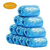 ZYU STEPS 100 Unids/set Cubrebotas de plástico desechables Cubiertas de botas impermeables a prueba de polvo a prueba de barro azul 13.8X5.5 pulgadas
