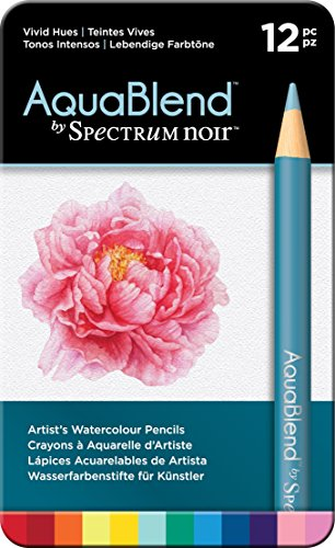 Spectrum Noir Pencils-12 Aquablend Pc-Vivid Hues Watercolor Pencil Set