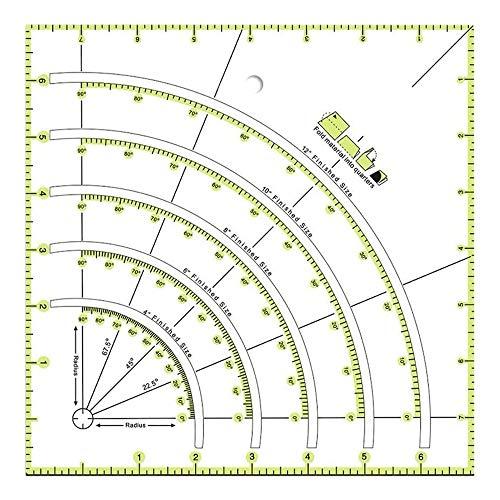 Tamkyo 1 Pieza de Regla de Coser Hecha una Mano DIY para Coser, Medir, Pintar, Hacer Manualidades y Cortar con PrecisióN