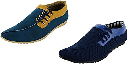 ESSENCE Men's Combo Pack of 2 Smart Casual Shoes