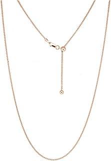 Collar ajustable de cadena de trigo de plata de ley 925 para mujer, collar Bolo, cadena ajustable para todos los colgantes