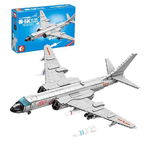 CYGG Technic J-10 Firefly Fighter Plane Set, PlaySet de avión de avión con camión y misiles, Compatible con Lego - 820 PCS