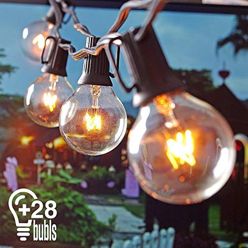 String Lights G40 25+3 Bulbs 25ft Waterproof Outdoor Backyard Light Perfect for Patio Cafe Garden Wedding Decor