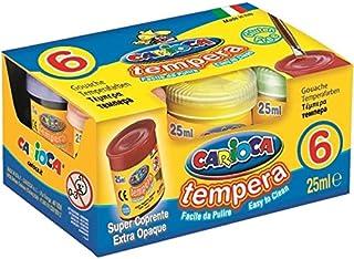 comprar comparacion Carioca- Tempera Caja con 6 Vasos a 25ml, Multicolor (KO022)