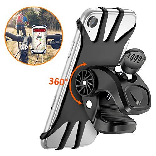 Vobon Supporto Bici Smartphone, Porta Cellulare Bici 360° Rotabile Universale Supporto Telefono da Bici e Moto per Bicicletta Ciclismo, GPS Nacigatore e Altri Dispositivi Elettronici 4.5
