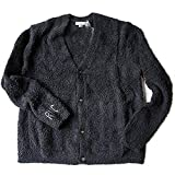 Ron Herman(ロンハーマン) Barefoot Dreams(ベアフットドリームス)RHC別注 ロゴ入り ノーカラーカーディガン Solid Pocket Cardigan (ブラック, L)