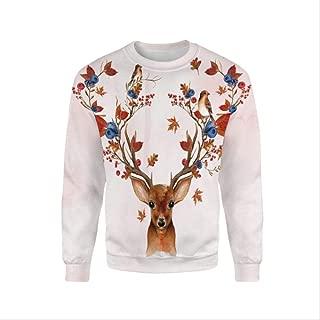 AHJSN Men Women S-4xl Santa Claus Christmas Novelty Ugly Christmas Sweater Snowman 3d Printing Hooded Sweater 4XL 3