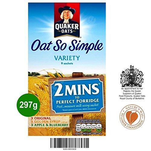 Quaker Oat So Simple Variety 9 x 33g - Haferflocken in 3 verschiedene Sorten