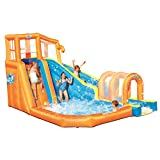 Bestway Hurricane Tunnel Blast Inflatable Water Park Play Center | Includes Big Water Slide, Water...