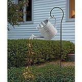 Surfiiiy Gartenlampen Gießkanne Gartengießkanne Licht Lampions, DIY Watering Can Fairy Lights Solar LED Light Garten Deko lampions für Outdoor Garten Hof (I2 Mit Halterung)