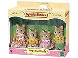 Sylvanian Families - Le Village - La Famille Chat Tigre - 5180 - Famille 4 Figurines - Mini Poupées