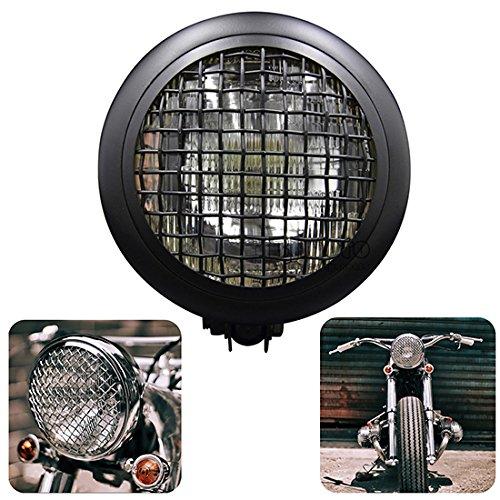BJ Global Clôtures de phare LED double Streetfighter Cafe Racer Custom pour Harley, Honda, Yamaha, Kawasaki