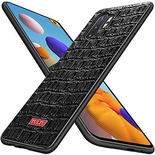 La funda de cuero Gittos es adecuada para la funda del teléfono móvil Samsung Galaxy Note 10 Plus, [2 protectores de pantalla] [Resistencia a impactos] [Resistencia a rayones] Funda Galaxy Note 10+ 5G