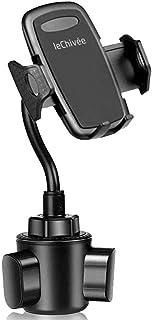 حامل كوب للهاتف للسيارات، قاعدة قابلة للتعديل بحرية، حامل الهاتف المحمول مع الإوزة المرنة، متوافق مع آيفون 11 برو XS ماكس ...