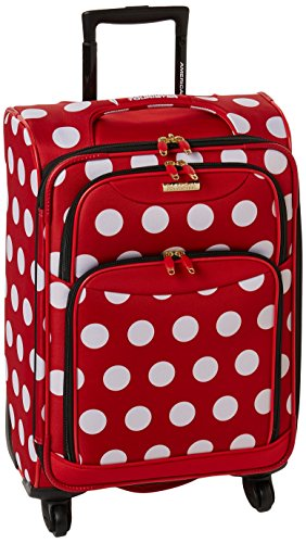 American Tourister Disney Softside Luggage with Spinner Wheels, Minnie Mouse Polka Dot American Tourister Carry On