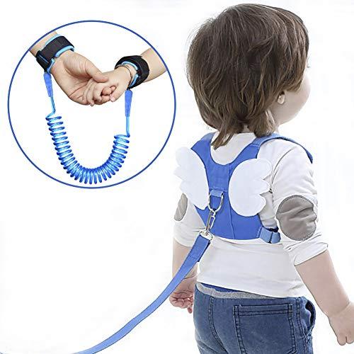 OFUN Imbracatura di Sicurezza per Bambini, 2M Anti Perso Guinzaglio e 360° Cintura da Passeggio,Guinzaglio con Bracciale per Imparare A Camminare (Angel Wings)