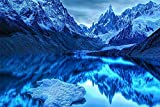 ZBYBGP Dibujo de Diamante DIY,Bordado de Lienzo de Diamante Redondo 5D,Iceberg Azul para Adultos,Creativo,decoración del hogar,Juguetes de descompresión