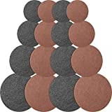 16 Pieces Reversible Round Plant Coaster Plant Mat Absorbent Table Board for Kitchen Hot Pads, Pots, Pans, DIY Craft Supplies, 4 Inch, 6 Inch, 8 Inch, 10 Inch (Black, Dark Brown)
