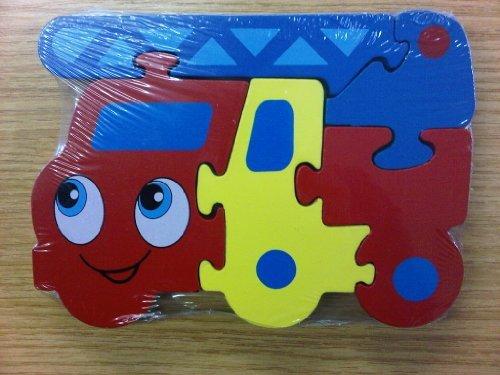 The Home Fusion Company Enfants Bois Feu Moteur Forme Transport Puzzles 12 Mois+