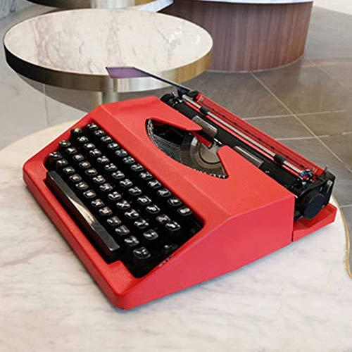 Maniny Typisierbar Vollmetallkörper Schreibmaschine - Literarische Retro-Sammlung Geburtstagsgeschenk - rot - 30 * 30 * 10 cm