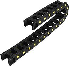 DealMux R55 25mm x 50mm (Binnen H x BinnenW) Zwart Plastic Kabeldraad Drag Chain 1M Lengte voor CNC, met Eindconnectoren -...