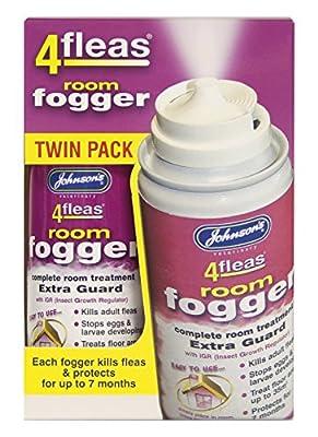 Johnson's Vet 4 Fleas Room Fogger Spray Twin Pack from Johnson's Vet
