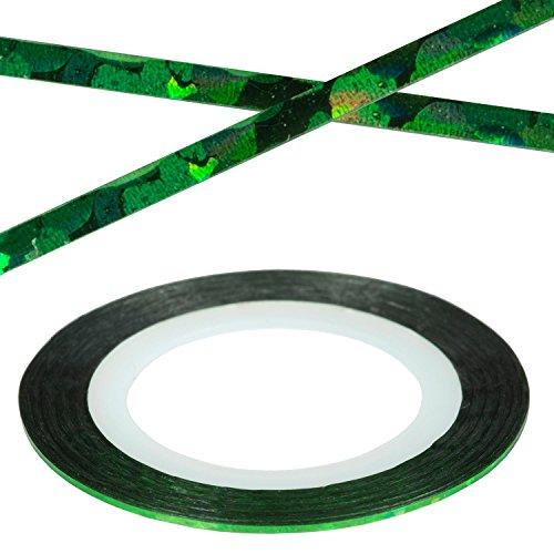 Nail Art décoratif de Stripes Laser Green Bandes Stripes autocollant ongles Design