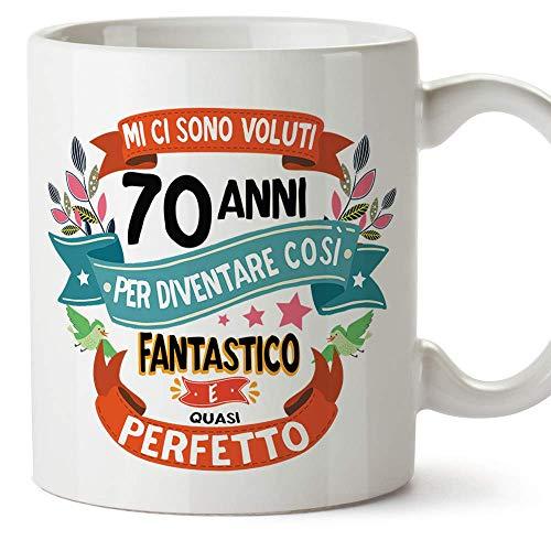 MUGFFINS Tazza Compleanno 70 Anni - Idee Regali Originali et Divertenti per Uomo e Donna - per lui/per...