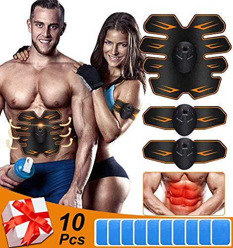 Nitoer EMS bauchmuskeltrainer elektrisch bauchtrainer ABS Trainingsgerät muskelstimulation EMS trainingsgerät Bauch trainingsgerät bauchtrainer für zuhause
