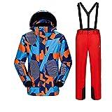 UJDKCF Chaqueta de esquí + Pantalón de Snowboard Mascule Skiing y Snowboard Snow Ski Traje Invierno Men 06 S