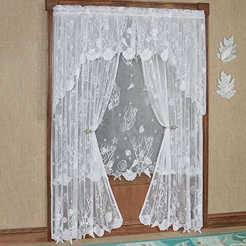 Touch of Class Sea Treasures Lace Curtain Panel