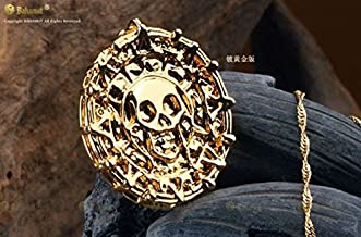 JACK SPARROW AZTE Pirates of the Caribbean Gold Coin Medal Necklace Elizabeth(Gold Color)