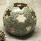 Windlicht weihnachtlich Keramik Handarbeit - Geschenk