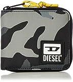 Diesel BULERO Zippy HIRESH S II Wallet, Accesorio Billetera de Viaje Hombre, Negro/Elefante, Talla única