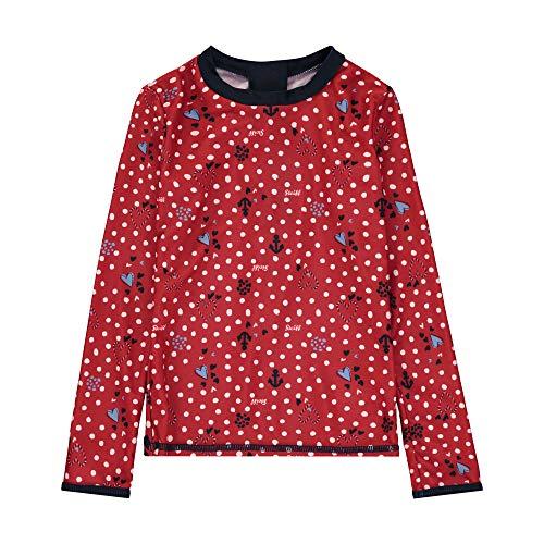 Steiff Mädchen UV Shirt Schwimmshirt, Rot (Tango Red 4008), 80 (Herstellergröße: 080)