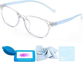 Faerieking Blue Light Eyewear Kids Computer Gaming Glasses for Girls Boys Anti Eyestrain & UV Glare