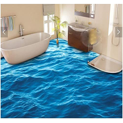Newberli 3d bodenbelag benutzerdefinierte wasserdichte 3d pvc bodenbelag 3d blaues wasser wellen 3d bad bodenbelag foto 3d wandbilder tapete