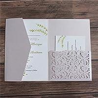 封筒付きの結婚式の招待状は、ブルーバーガンディグリーンを印刷するように招待します50pcs-lavender_pocket_and_envelop