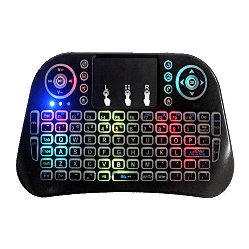 HYLY Mini I10 2.4g Air Mouse Teclado Inalámbrico con Touchpad Negro-Un 6.30 x 3.54 x 0.79 en