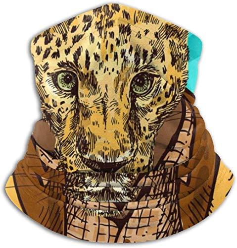 Guepardo en una chaqueta Calentador de cuello - Sombrerería Diademas anchas Bufanda Envoltura para la cabeza, Banda para la cabeza con polaina para el cuello, Pañuelo para el rostro Pañuelo deportivo