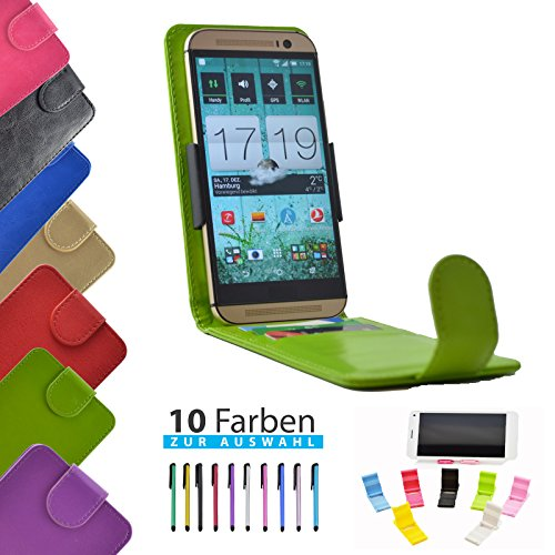4 in 1 set ikracase Slide Flip Hülle für Archos 50 Titanium 4G Smartphone Tasche Case Cover Schutzhülle Smartphone Etui in Grün