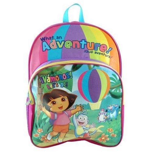 Mochila grande violeta Botas y Dora Exploradora