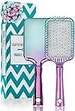 Lily England Paddle Brush Haarbürste im Ombre Türkis Lila Look