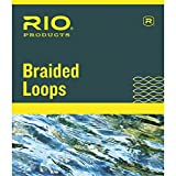 Rio Fly Fishing Braided Loops Lines 7-12 4 Pack Fly Tying Equipment, Orange, Large