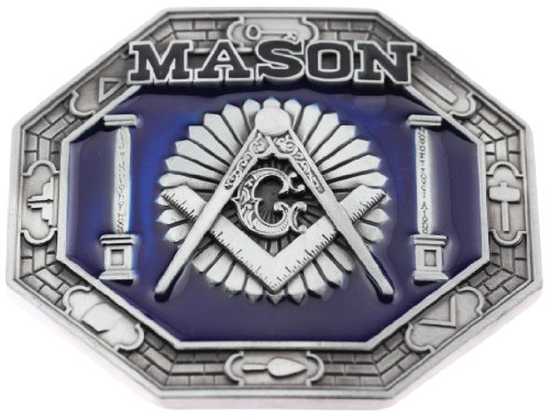 Freemason Mason Square and Compass Belt Buckle