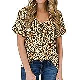 SLYZ 2020 Primavera Y Verano Mujer Camiseta con Bolsillo con Cuello En V Camiseta Casual De Moda Rizada De Manga Corta Camiseta Todo Fósforo para Mujer