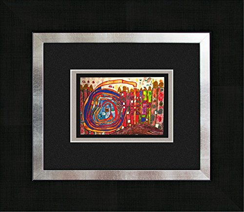 artissimo, Kunstdruck gerahmt, 45x40cm, AG3085, Friedensreich Hundertwasser: Who Has Eaten All My Windows, Bild, Wandbild, Poster, Wanddekoration
