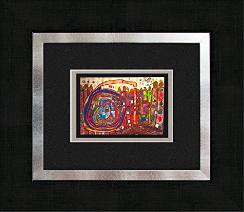 artissimo, Kunstdruck gerahmt, 45x40cm, AG3085, Friedensreich Hundertwasser: Who Has Eaten All My Windows, Bild, Wandbild, Poster, Wanddekoration